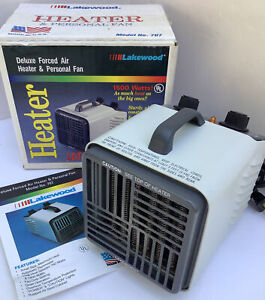 VTG Forced Air Heater Personal Fan 1500/700 Watt Compact Portable Lakewood #707