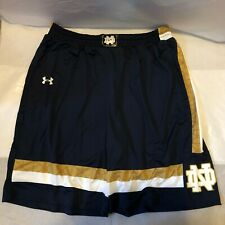 NEW Under Armour NCAA Notre Dame Player Authentic Training Shorts Size LARGE