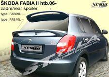 SPOILER REAR BOOT SKODA FABIA 2 II MK2 MKII WING ACCESSORIES