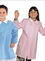 GREMBIULE Divisa Bambina Bambino Per Asilo Scuola Materna Tinta Unita ROSA BIMBA