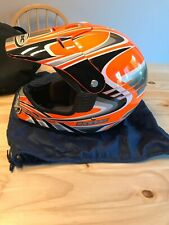 KBC Full Size Helmet Size Large With Castle Racing Carrying Bag