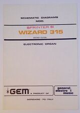 Original Gem Wizard 315 Sprinter 61 Electronic Organ Schematic Diagrams