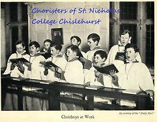 Choristers of St Nicholas College Chislehurst -  Nicholson -  Lamb & Evans-Pugh