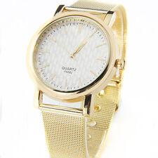 Latest Gold Classic Womens Quartz Stainless Steel Wrist Watch Lady style