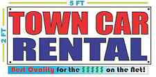 TOWN CAR RENTAL Banner Sign NEW Size Best Quality for the $$$ Red White Blue
