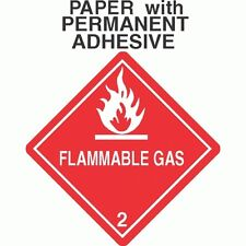 Flammable Gas Class 2.1 Paper Labels D.O.T. 4X4 (ROLL OF 500)