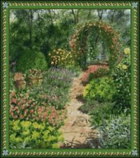 """Flower Garden Counted Cross Stitch Kit 15"""" x 13.25"""" 14  Count"""