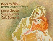 BEVERLY SILLS FAVORITE DUETS WITH TENORS NICOLAI GEDDA BURROWS BERGONZI LP L6766