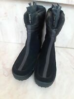 Lands' End Women's Black Winter Suede Snow Leather Insulated Boots SZ 8B