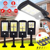 1/2/4X LED Solarleuchte Wandleuchte mit Bewegungsmelder Garage Außenlampe Licht