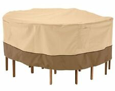 PyleSports Patio Table & Chair Set Cover Fits Round Table & 6 Standard Chairs