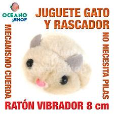 JUGUETE RASCADOR RATÓN PELUCHE VIBRACIÓN CON CUERDA SIN PILAS 8 cm L134 3472