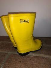 L L Bean School Bus Yellow Rain Snow Boots Galoshes Size 9 Toddler ❤️tb9j15