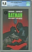 Batman Last Knight on Earth #3 CGC 9.8 1st First Printing Cover Edition Capullo