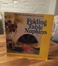 Folding Table Napkins By Marianne Von Bornstedt and Ulla Prytz