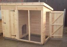 6 X  4  DOG KENNEL AND RUN  WITH SIDE DOOR