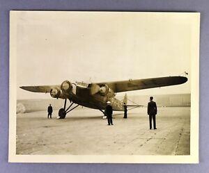 KLM FOKKER F.XII PH-AIE CROYDON 1934 BERLIN SERVICE ORIGINAL VINTAGE PRESS PHOTO