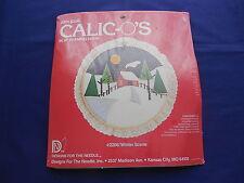 Vtg Winter Scene Calic-o's Applique Kit w/ Framing Hoop Designs For The Needle