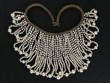Fantastic Classy Miriam Haskell Pearl Loops Bib Necklace (NK1932)