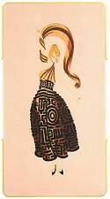 "ORIGINALE VINTAGE Erte Art Deco Print ""FLAMENCO"" FASHION BOOK Piastra"