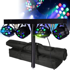 More details for equinox dj microbar led effects lighting par bar & stand with bags