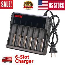 6 Slot for 16340/18650/14500/26650 3.7V NiMH RCR123 Li-ion NiCd Smart US Charger