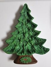 Nowell's Molds Ceramic Christmas Tree Nut~Candy Dish Decoration Vintage 1981