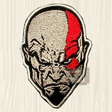 Kratos Face Embroidered Patch GOW God of War Athena PS Ascension Series 2 3 4