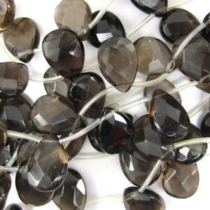14 strand of 5x12mm long smooth round oval #QTZ-052 Quartz Approx 30 natural brown gemstone beads Smokey