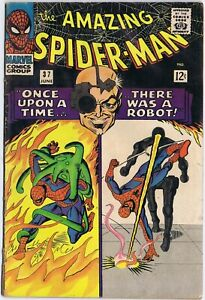 THE AMAZING SPIDER-MAN 37 Marvel Comics 1966 STEVE DITKO art 1st Norman Osborn