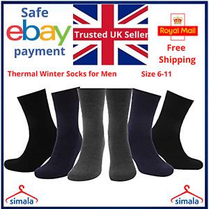 Thermal Socks Winter Warm Thermal Socks Mens Winter Outdoor Warm Thermal UK 9-12