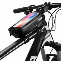 Bicycle Frame Pannier Cross Bar Top Tube Bike Bag Durable Mobile Phone Holder