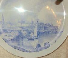 Teller Pdm Made in Italy blau weiß Porzellan Siebdruck ?