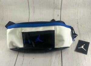 Nike Air Jordan Retro 10 Crossbody Sling Bag Black Blue 9A0188-459 Fanny Waist