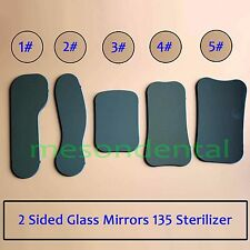 Dental Orthodontic Intraoral Photographic 2 sided Rhodium Glass Mirrors 5pcs huk