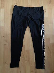 Adidas Climalite Leggings Black XL 20-22 Running Gym Training