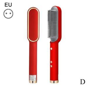 Professional Electric Ceramic Heated Hair Curler Straightening Brush BEST