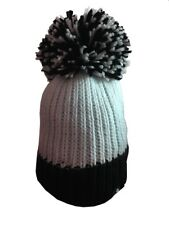 KARMA ACCESSORIES BLACK WHITE BIG BOBBLE HAT ONE SIZE FITS ALL BH11