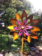 large 2 ft Kinetic wind Sculpture Modern Art Dual spinner metal outdoor Pinwheel