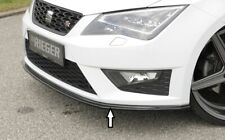 Rieger Spoilerlippe für Seat Leon 5F FR Cupra VFL Frontspoiler schwarzglanz