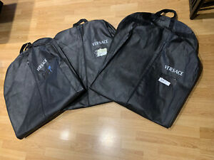 3 X Versace Garment Carrier Protector, Suit, Dress XLarge Cover Dust Bag Used