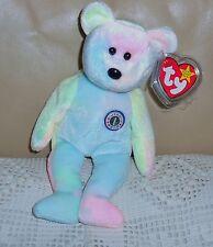 Ty Beanie Baby Bear B. B. The Tye Die Birthday Bear Retired Mint Tags New