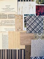 Junk Journal Supplies, 75+items, Vintage Book Pages, Rustic Scrapbook Papers