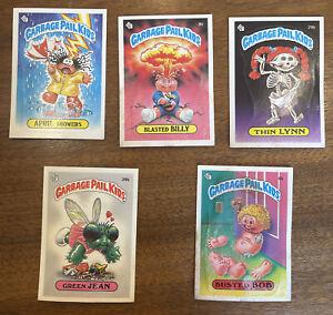 1985 GARBAGE PAIL KIDS 1st Series Lot (5), 8b (BUSTED BILLY), 6b, 7b, 29b, 39b