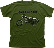 Royal Enfield - Made like a Gun logo T-Shirt - retro motorcycle olive 01532