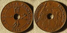 France Indo China : 1931 5 Ct XF- #12.1  Torch Privy Mark   IR7350