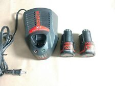 Bosch BC430 Fast Battery Charger With 2X BAT411 12V MAX Batteries