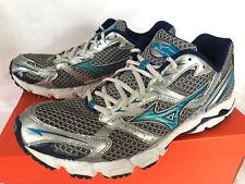 Mizuno Wave Rider 13 Silver 8KN-00323 Blue 5K Marathon Running Shoes Women's 11