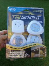 JML Tri Bright Remote Controlled LED Spotlights Home Kitchen Bathroom Lighting