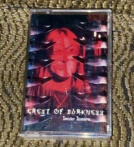 Crest of Darkness - Sinister Scenario. Mint Cassette Tape Plays Well Rare Mystic